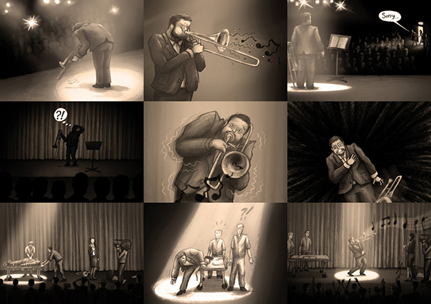 Sonata for Solo Trombone - Storyboard