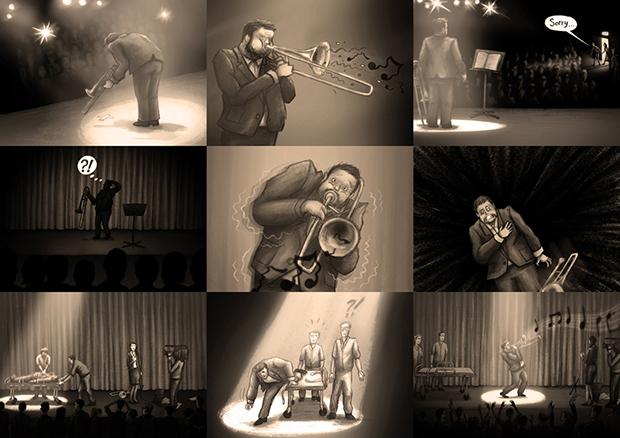 Sonata for Solo Trombone - Storyboard