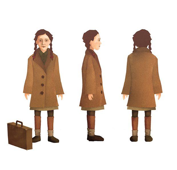 Toen Ik Overstak - Character design (Nel)